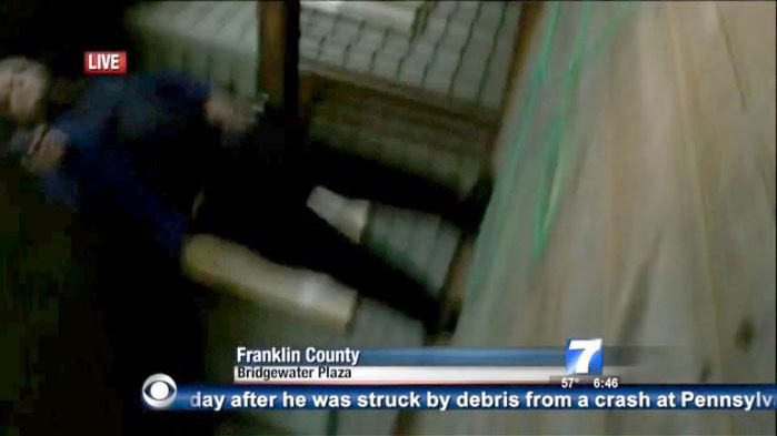 مشتبہ قاتل کی تصویر، ٹی وی کیمرے سے لی گئی