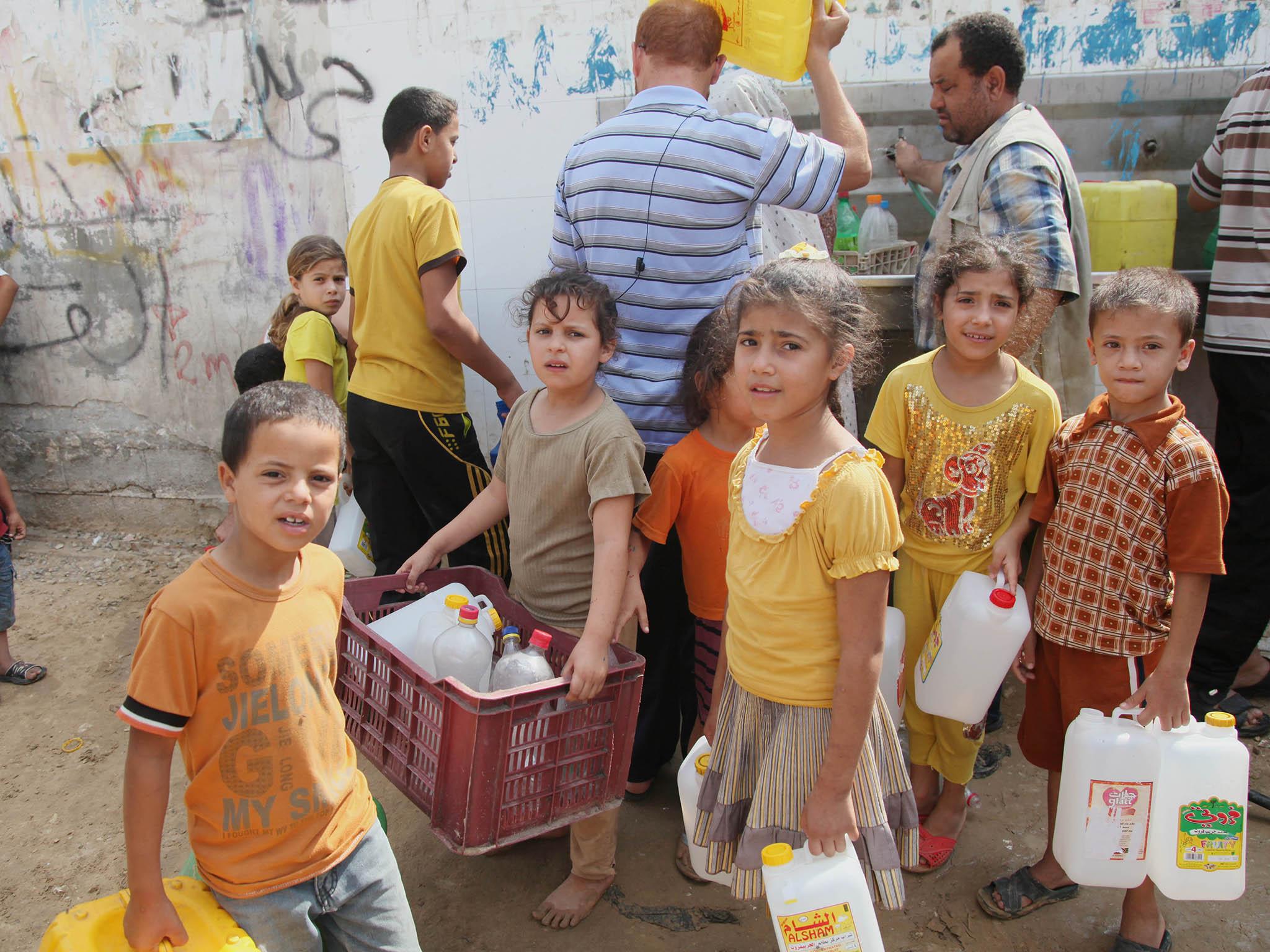Water shortage in Gaza Strip